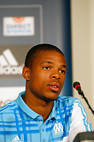 FOOTBALL - MISCS - FRENCH CHAMPIONSHIP 2010/2011 - OLYMPIQUE DE MARSEILLE - 24/08/2010 - PHOTO PHILIPPE LAURENSON / DPPI - LOIC REMY PRESS CONFERENCE FOR ANNOUNCED HIS APTITUDE FOR PLAY WITH MARSEILLE