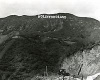 1924 Hollywoodland sign