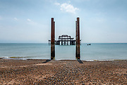 Remains of an old Victorian Pier sit forlornly just off Brighton's seafront. <br /> Licensing and Limited Edition of 8