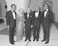 1 September 1993 - Left to right, Lachlan Murdoch, Lord & Lady Grade, Rupert Murdoch and James Murdoch at a party to celebrate the launch of SKY TV new channels, held at The Banqueting House, Whitehall, London.<br /> <br /> Photo by Dominic O'Neill/Desmond O'Neill Features Ltd.  +44(0)1306 731608  www.donfeatures.com