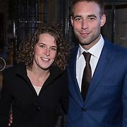 NLD/Amsterdam//20140325 - Schaatsgala 2013, Ireen Wust en partner Bastiaan