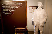 USA Missouri MO, Hannibal a port town on the Mississippi River better known as the childhood town of Samuel Langhorne Clemens AKA Mark Twain. exhibits inside the Mark Twain Boyhood Home and Museum