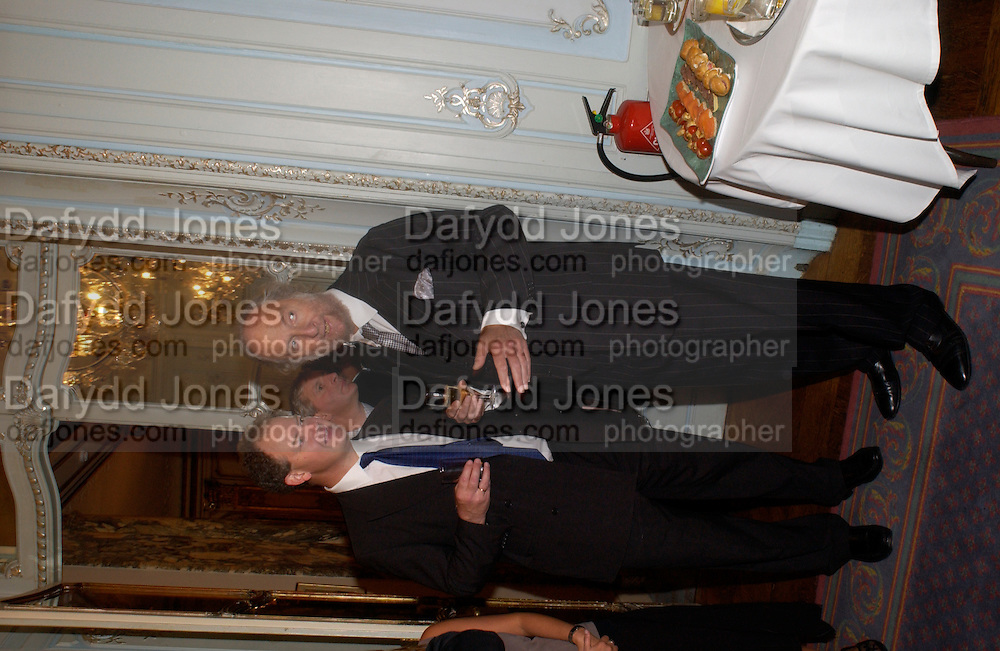 Ed FitzGerald and Ed Victor, Flora Fraser launch party for her book ' Princesses the Daughters of George 111' the Savile club, Brook St. 14 September 2004. SUPPLIED FOR ONE-TIME USE ONLY-DO NOT ARCHIVE. © Copyright Photograph by Dafydd Jones 66 Stockwell Park Rd. London SW9 0DA Tel 020 7733 0108 www.dafjones.com