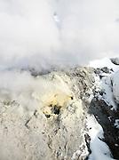 A volcanic steam vent in Daisetsuzan National Park, Hokkaid?, Japan