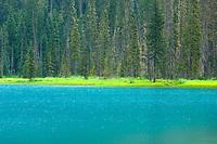 Turquiose waters of Lower Joffre Lake, Joffre Provincial Park British Columbia Canada