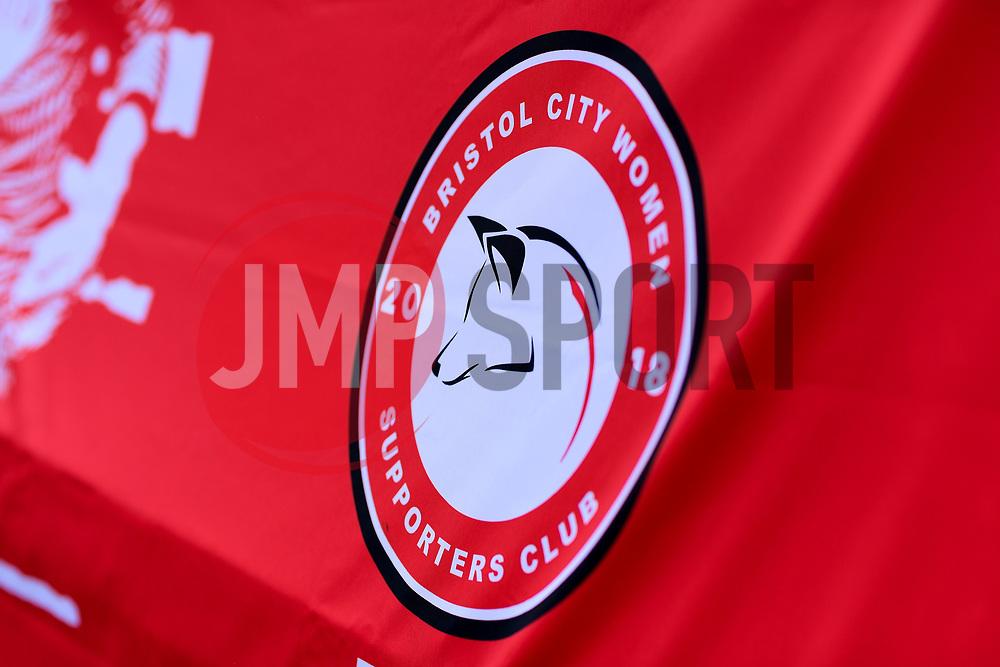 Bristol City Women Supporters Club banner - Mandatory by-line: Ryan Hiscott/JMP - 06/09/2020 - FOOTBALL - Twerton Park - Bath, England - Bristol City Women v Everton Ladies - FA Women's Super League