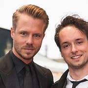 NLD/Amsterdam/20140508 - Wereldpremiere Musical Anne, Thijs Römer en broer Job