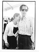 Peter Jennings and daughter. Hampton classic, Horse show© Copyright Photograph by Dafydd Jones 66 Stockwell Park Rd. London SW9 0DA Tel 020 7733 0108 www.dafjones.com