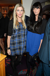 Left to right, ASHLEY JAMES from reality TV's Made in Chelsea and LILAH PARSONS at Tatler Magazine's Little Black Book Party held at Annabel's, Berkeley Square, London on 5th November 2013.
