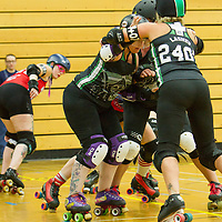 North Devon Roller Derby take on the Norfolk Brawds at the British Champs Playoffs, Fenton Manor, Stoke-on-Trent, 2017-09-16