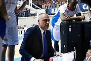 Sodini Marco time out Cantù, RED OCTOBER CANTU' vs EA7 EMPORIO ARMANI OLIMPIA MILANO, gara 3 Quarti di Finale Play off Lega Basket Serie A 2017/2018, PalaDesio Desio (MB) 16 maggio 2018 - FOTO: Bertani/Ciamillo
