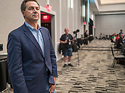 21 AUGUST 2019 - ALTOONA, IOWA: Governor STEVE BULLOCK (D-MT) waits to address union members. Many of the Democratic presidential candidates are addressing the Iowa Federation of Labor convention at the Prairie Meadow Casino in Altoona. They are hoping to secure labor support before the Iowa Caucuses on Feb. 3, 2020.      PHOTO BY JACK KURTZ