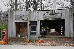 November 2008:  Old general store, now an antique shop at Funks Grove, Illinois near the Mother Road, U.S. Route 66. This image was produced in part utilizing High Dynamic Range (HDR) or panoramic stitching or other computer software manipulation processes. It should not be used editorially without being listed as an illustration or with a disclaimer. It may or may not be an accurate representation of the scene as originally photographed and the finished image is the creation of the photographer.