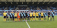 Football remembers team photo during the The FA Cup match between Wycombe Wanderers and AFC Wimbledon at Adams Park, High Wycombe, England on 7 December 2014.