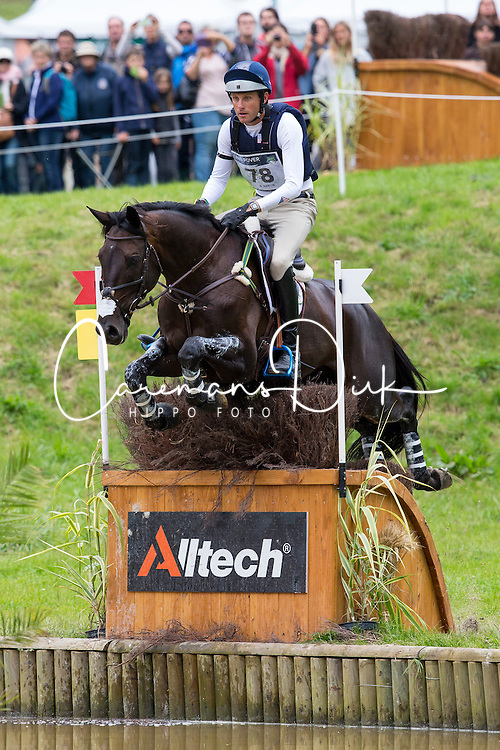 Boyd Martin, (USA), Shamwari 4 - Eventing Cross Country test - Alltech FEI World Equestrian Games™ 2014 - Normandy, France.<br /> © Hippo Foto Team - Leanjo de Koster<br /> 30/08/14