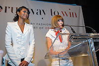 Anna Wintour of Vogue host the Runway to Win tour in Chicago.