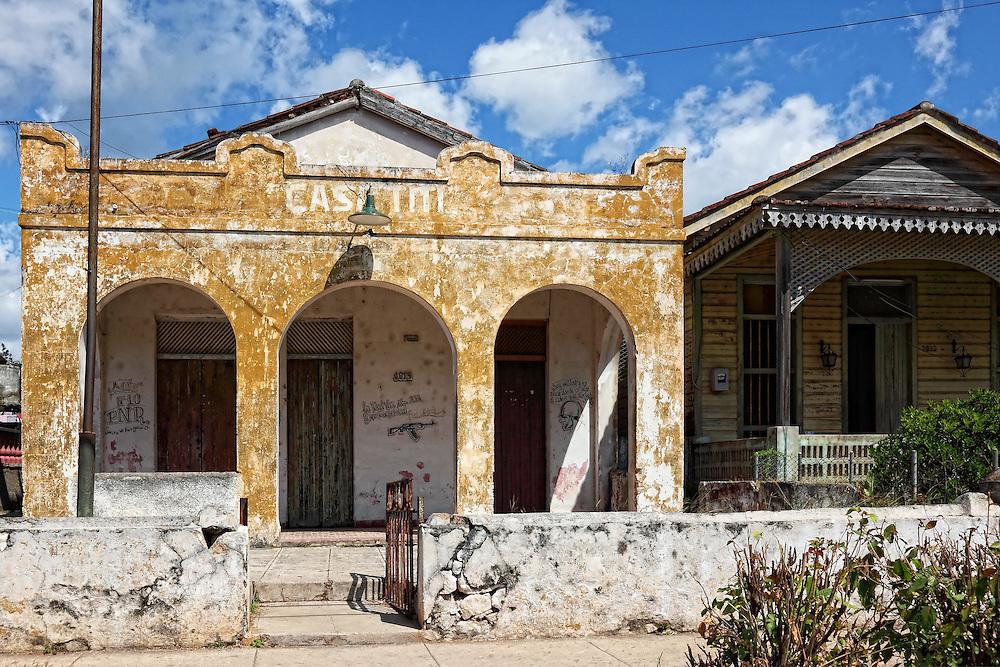 Houses in San Miguel de los Banos, Matanzas, Cuba.