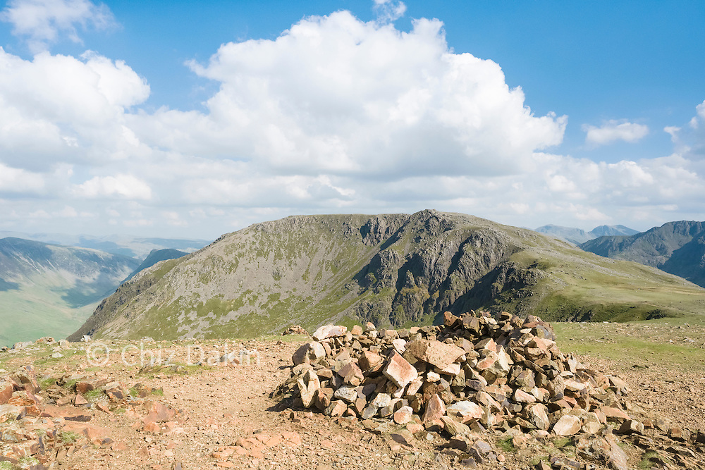 Looking back to the deeply incised gullies of the NE edge of the High Stile to Red Pike ridge
