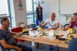 10-09-2017 FRA: BvdGF Tour du Mont Blanc day 1, Beaufort <br /> Vandaag vertrekken we vanuit Papendal in Arnhem naar naar het plaatsje Beaufort (nabij Chamonix) in Frankrijk / Onderzoek, sensor, diabetes, uitleg, meten, Jeroen, Rene, Geert