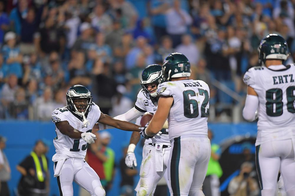 The Philadelphia Eagles beat the Carolina Panthers 28-23 at Bank of America Stadium on October 12, 2017 in Charlotte, North Carolina.  (Photo by Drew Hallowell/Philadelphia Eagles)