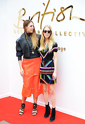 © London News Pictures. 20/05/2015. Amber Le Bon and Mary Charteris. British Designers Collective. Celebrities  launch 6-week pop up shop at Bicester Village. Celebrities launching the 6-week event called the British Designers Collective in which a pop-up shop has been installed to sell one of pieces from up and coming designers. Photo credit: Richard Cave/LNP