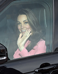 The Duchess of Cambridge arriving for the Queen's Christmas lunch at Buckingham Palace, London.