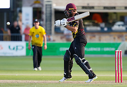 Somerset's Corey Anderson<br /> <br /> Photographer Simon King/Replay Images<br /> <br /> Vitality Blast T20 - Round 1 - Somerset v Gloucestershire - Friday 6th July 2018 - Cooper Associates County Ground - Taunton<br /> <br /> World Copyright © Replay Images . All rights reserved. info@replayimages.co.uk - http://replayimages.co.uk