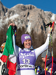 14-01-2012 SKIEN: FIS WORLD CUP: CORTINA<br /> Pista Olympia delle Tofane, first place Daniela Merighetti of Italy<br /> **NETHERLANDS ONLY** <br /> ©2012-FotoHoogendoorn.nl/EXPA/Johann Groder