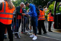 Alex Jakubiak of Bristol Rovers arrives at Loftus Road prior to kick off  - Mandatory by-line: Ryan Hiscott/JMP - 28/08/2018 - FOOTBALL - Loftus Road - London, England - Queens Park Rangers v Bristol Rovers - Carabao Cup