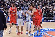 DESCRIZIONE : Beko Legabasket Serie A 2015- 2016 Playoff Quarti di Finale Gara3 Dinamo Banco di Sardegna Sassari - Grissin Bon Reggio Emilia<br /> GIOCATORE : David Logan Ojars Silins<br /> CATEGORIA : Fair Play Postgame<br /> SQUADRA : Grissin Bon Reggio Emilia<br /> EVENTO : Beko Legabasket Serie A 2015-2016 Playoff<br /> GARA : Quarti di Finale Gara3 Dinamo Banco di Sardegna Sassari - Grissin Bon Reggio Emilia<br /> DATA : 11/05/2016<br /> SPORT : Pallacanestro <br /> AUTORE : Agenzia Ciamillo-Castoria/L.Canu