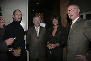 Michael Clark, Tracey Emin and Gilbert and George, The South Bank Show Awards, Savoy Hotel. London. 23 January 2007.  -DO NOT ARCHIVE-© Copyright Photograph by Dafydd Jones. 248 Clapham Rd. London SW9 0PZ. Tel 0207 820 0771. www.dafjones.com.