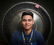 Ronald Canales poses for a photograph at Sterling Aviation High School, January 18, 2017.