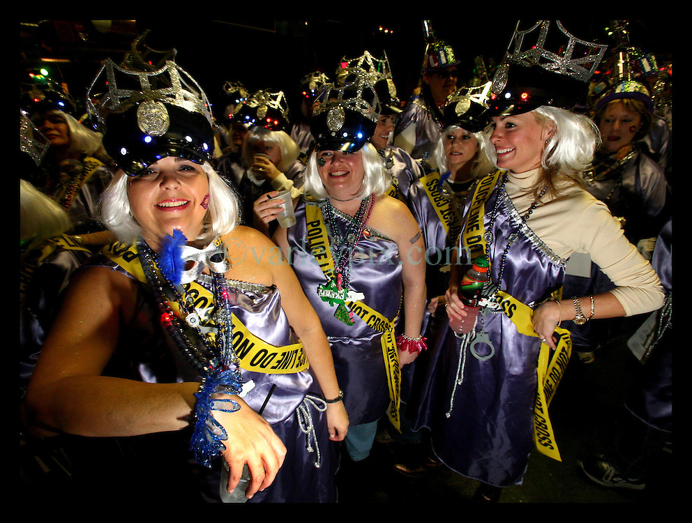 Feb 23rd, 2006. New Orleans, Louisiana. The Krewe of Muses pre float baording party at The Venue club. Muses is the only all women's Krewe to parade in New Orleans and is known for its satire, famous shoe throws and is generally considered one of the most popular parades of the Mardi Gras.