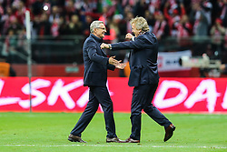 October 8, 2017 - Warsaw, Poland - Trener Adam Nawalka (POL), Zbigniew Boniek,  during Poland and Montenegro World Cup 2018 qualifier match in Warsaw, Poland, on 8 October 2017. POLAND won 4-2 and take on their World Cup 2018 qualifier. (Credit Image: © Foto Olimpik/NurPhoto via ZUMA Press)