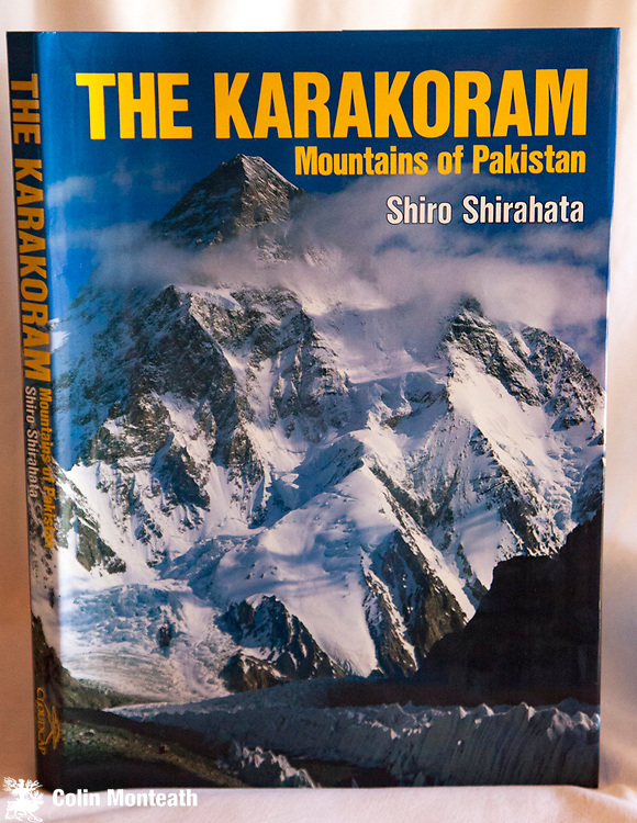 THE KARAKORAM, THE MOUNTAINS OF PAKISTAN -  Shiro Shirahata, Cloudcap, Seattle, USA, 1990 1st USA edn., large format hardback book, as new with VG+ jacket, 191 pages with full page colour plates of Pakistan ( Karakoram, Hindu Raj, Hindu Kush and Nanga Parbat ranges) famous peaks taken on large-format film camera...stunning....and an excellent expedition route planner. Barking Mad Books also has copies of Shirahata's companion volume  Nepal Himalaya - $NZD120 ( Hu Collection)