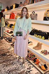 Rosie Fortescue at launch of Bimba Y Lola, 295 Brompton Road, London England. 26 April 2018.