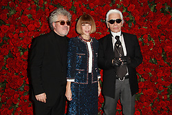 Pedro Almodovar, Anna Wintour and Karl Lagerfeld attend the Museum of Modern Art's 4th Annual Film benefit 'A Tribute to Pedro Almodovar' at the Museum of Modern Art in New York City, New York, USA on November 15, 2011. Photo by Elizabeth Pantaleo/ABACAPRESS.COM