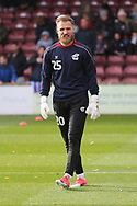 Scunthorpe United goalkeeper Jak Alnwick (25) warms up during the EFL Sky Bet League 1 match between Scunthorpe United and Plymouth Argyle at Glanford Park, Scunthorpe, England on 27 October 2018. Pic Mick Atkins