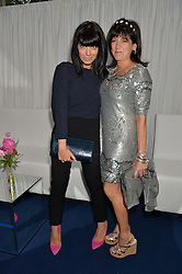 Left to right, CLAUDIA WINKLEMAN and EMMA FREUD at the Glamour Women of The Year Awards in Association with Next held in Berkeley Square Gardens, Berkeley Square, London on 3rd June 2014.