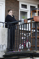 © Licensed to London News Pictures. 01/07/2020. London, UK. Police guard the crime scene at a block of flats in Monarch Parade in Mitcham, south London after a four year old girl was found seriously injured yesterday. She was taken to hospital where she later died. A woman, aged 35, is fighting for her life after she was also found suffering serious injuries inside the property. Photo credit: Peter Macdiarmid/LNP
