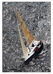 The third days racing at the Bell Lawrie Yachting Series in Tarbert Loch Fyne ..Perfect conditions finally arrived for competitors on the three race courses...GBR4334L Absolutely 2  a Mumm 36 from Port Edgar..