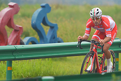 September 15, 2017 - Chenghu City, United States - Matteo Malucelli from Androni Sidermec Bottecchia team during the fourth stage of the 2017 Tour of China 1, the 3.3 km Chenghu Jintang individual time trial. .On Friday, 15 September 2017, in Jintang County, Chenghu City,  Sichuan Province, China. (Credit Image: © Artur Widak/NurPhoto via ZUMA Press)