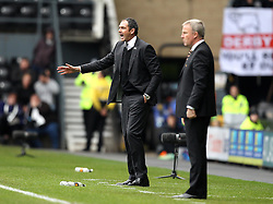Derby County Manager Paul Clement and Wolverhampton Wanderers Manager Kenny Jackett - Mandatory byline: Robbie Stephenson/JMP - 07966 386802 - 18/10/2015 - FOOTBALL - iPro Stadium - Derby, England - Derby County v Wolverhampton Wanderers - Sky Bet Championship