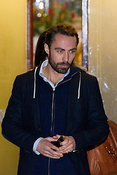 © Licensed to London News Pictures. 05/12/2012. London, UK. James Middleton, brother of Kate, Duchess of Cambridge, leaves the King Edward VII Hospital in London today (05/12/12) after visiting his sister, who is staying at the hospital after being diagnosed with hyperemesis gravidarum, a severe form of morning sickness. Photo credit: Matt Cetti-Roberts/LNP