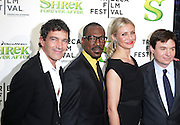 """21 April 2010- New York, NY- l to r: Antonio Banderas, Eddie Murphy, Cameron Diaz, and Mike Meyers at The World Premiere of Dreamwork Animation's """" Shrek Forever After """" for the Opening Night of the 2010 Tribeca Film Festival held at the Zeigfeld Theater on April 21, 2010 in New York City."""