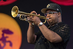 May 3, 2018 - New Orleans, Louisiana, U.S - NICHOLAS PAYTON during 2018 New Orleans Jazz and Heritage Festival at Race Course Fair Grounds in New Orleans, Louisiana (Credit Image: © Daniel DeSlover via ZUMA Wire)