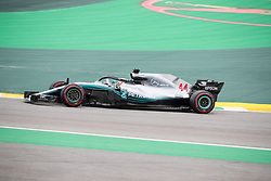 November 10, 2018 - Sao Paulo, Sao Paulo, Brazil - LEWIS HAMILTON, of Mercedes AMG Petronas, during the free practice session for the Formula One Grand Prix of Brazil at Interlagos circuit, in Sao Paulo, Brazil. The grand prix will be celebrated next Sunday, November 11. (Credit Image: © Paulo LopesZUMA Wire)