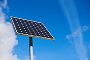 Solar panel on a pole |Zonnepaneel op een paal.