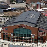 2009 Aerial image of Lucas Oil Stadium in Indianapolis, IN Corporate event photography by Infiniti Images