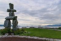 Inukshuk Statue & English Bay